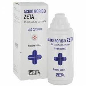 ACIDO BORICO (ZETA FARMACEUTICI) 3% SOLUZIONE CUTANEA FLACONE DA 500 ML