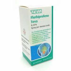 FLURBIPROFENE (TEVA) 0,25% SPRAY PER MUCOSA ORALE 1 FLACONE IN VETRO DA 15 ML
