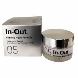 IN OUT 05 FIRMING NIGHT FORMULA CREMA COMBINATA RASSODANTE NOTTE TRATTAMENTO ESTERNO EMULSIONE 50 ML