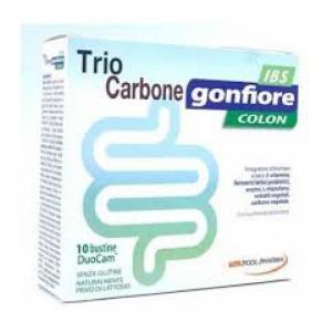TRIOCARBONE GONFIORE IBS 10 BUSTE DUOCAM DA 2 G + 1,5 G